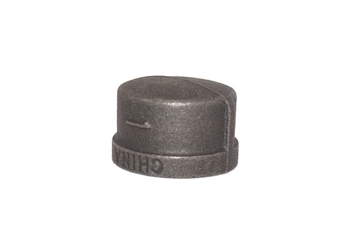 High Accuracy GI Pipe Fitting Cap Banded / Beaded Water Pipe End Cap OEM